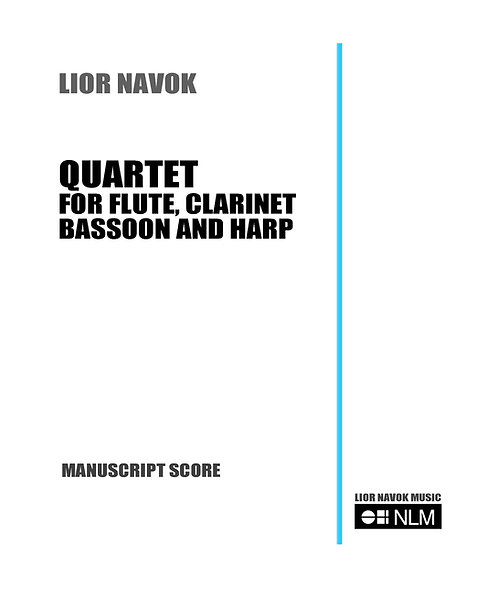 """Quartet for Flute, Clarinet, Bassoon and Harp"" (Score) [PDF down"