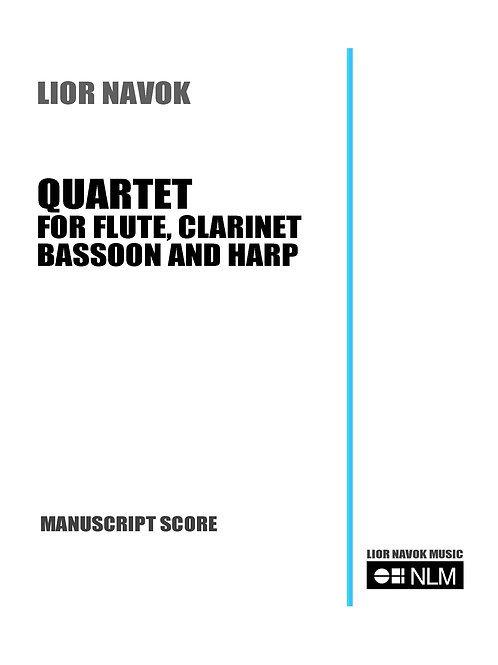 """Quartet for Flute, Clarinet, Bassoon and Harp"" (Set of Parts) [PDF download]"