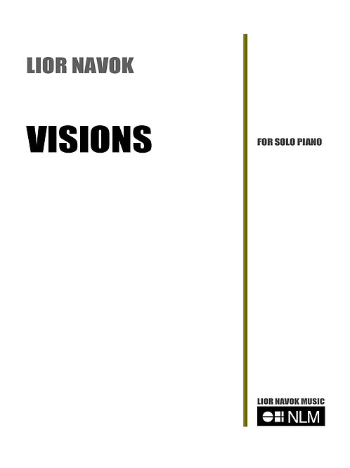 """Visions"" - for piano [PDF Download]"