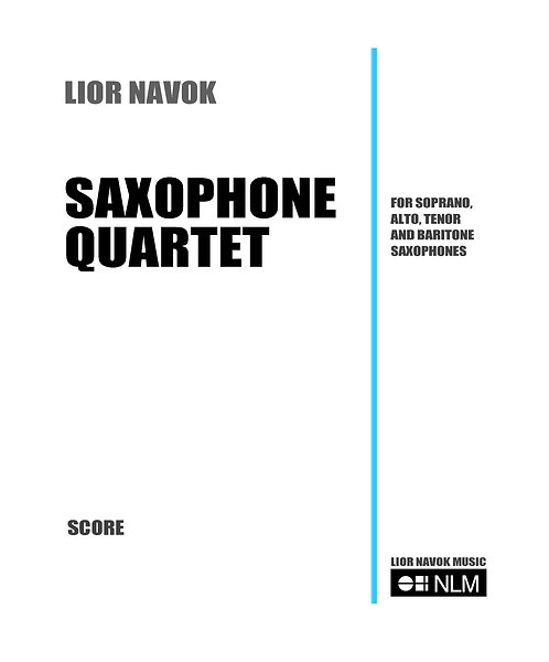 Saxophone Quartet [Hard Copy]