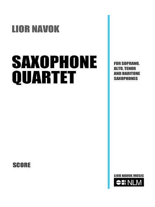 Saxophone Quartet (full score and parts) [PDF download)