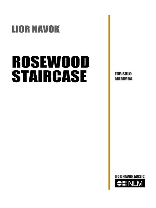 """Rosewood Staircase"" - for solo Marimba [PDF download]"