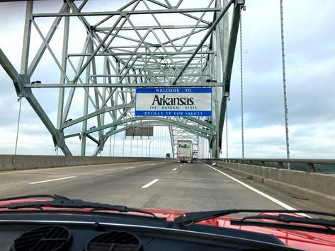 Day 8.1  - Straight through Arkansas - August 26
