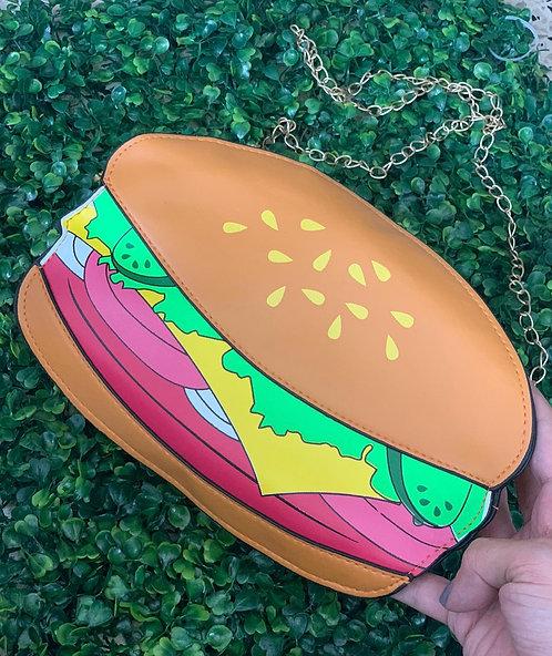 Hamburger shoulder bag