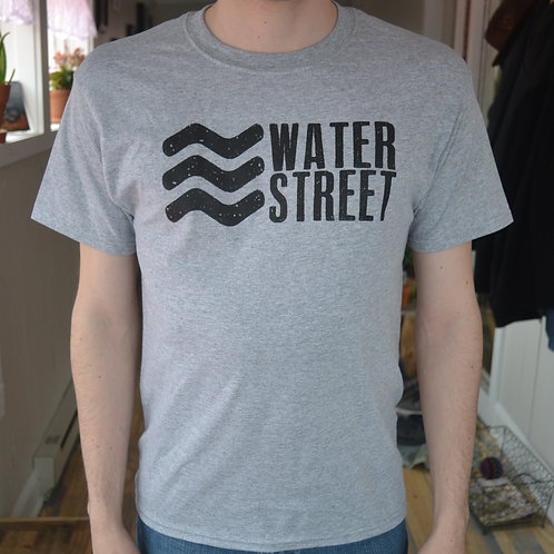 Water Street-T Grey w/Black Lettering