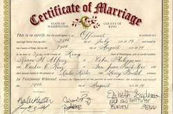Certified translation of marriage certificates