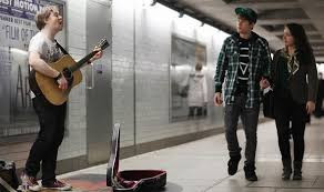 Busking in a subway