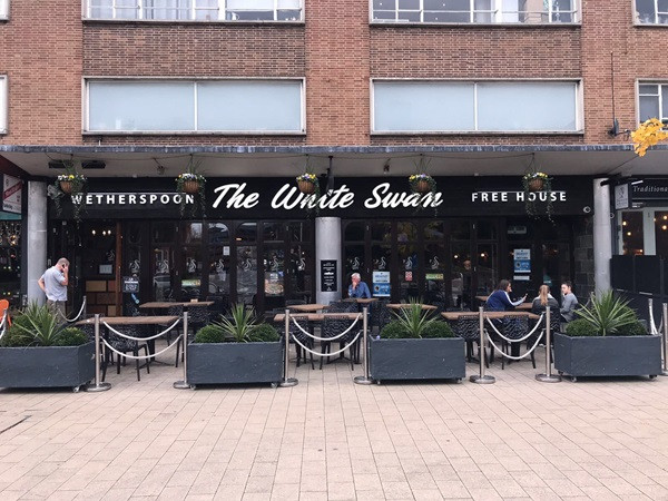 Wetherspoon. The White swan in Birmingham