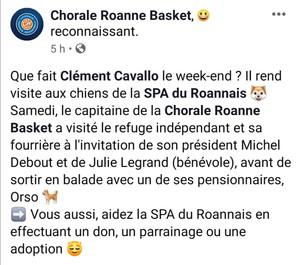 Visite du Capitaine de la Chorale de Roanne