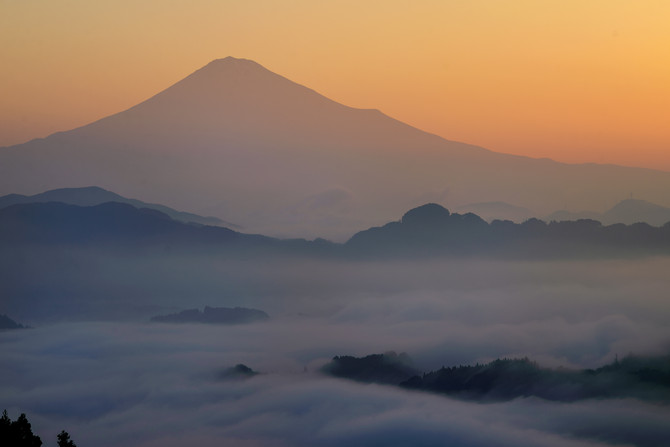 静岡のすてきな景色①  〜雲海富士〜