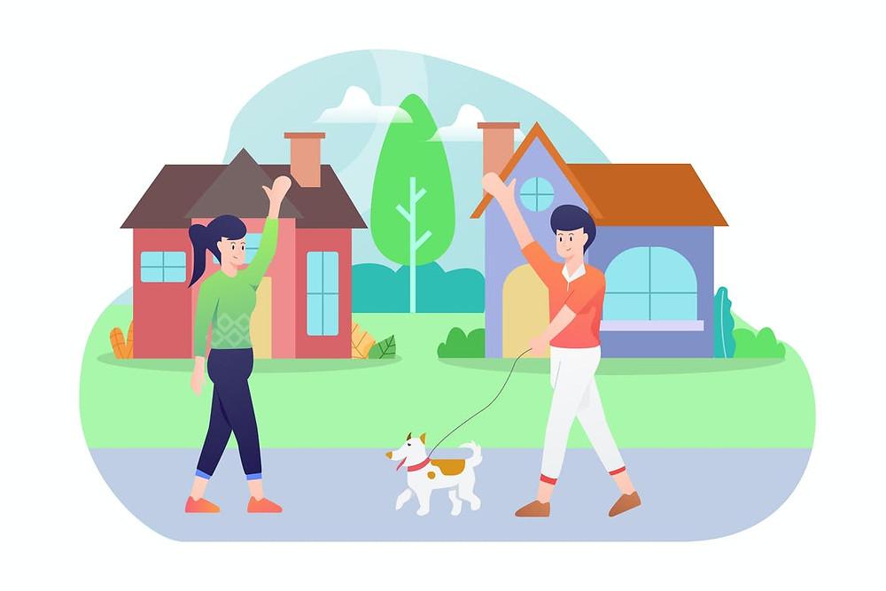 Morando sozinho pela primeira vez: conheça seus vizinhos!