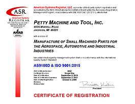 3832 Petty Machine AS9100 Certificate Se