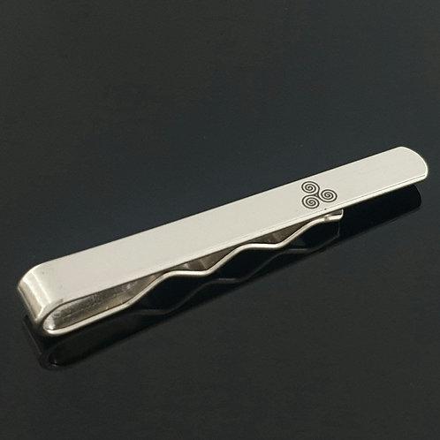 Newgrange Spiral Tie Slide - Sterling Silver