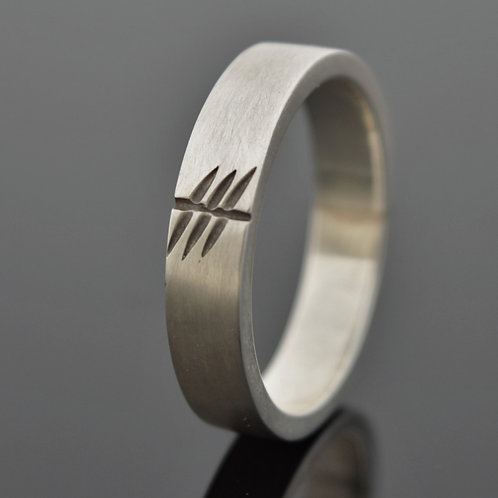 Ogham Initial Ring - 6mm