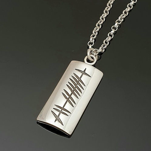 Sterling Silver Personalised Ogham Pendant