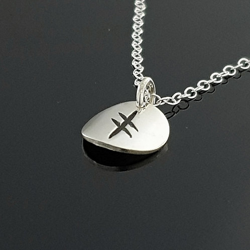 Ogham Initial Pendant - Sterling Silver 1 Disc