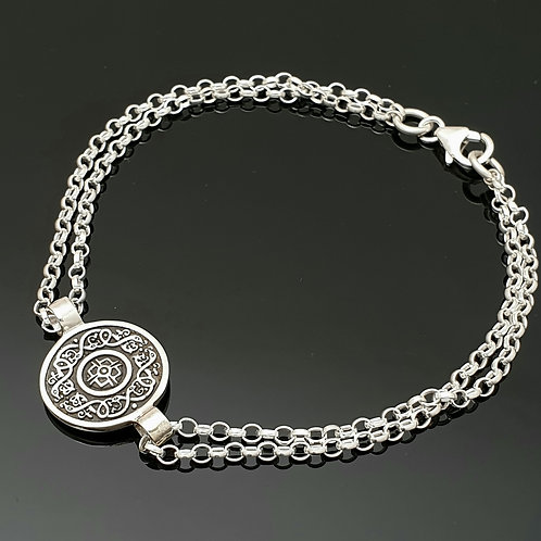 Silver Ardagh Bracelet with Oxidised finish