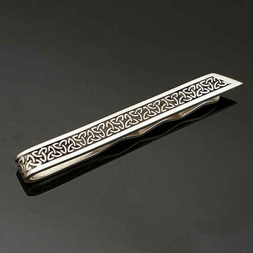 Sterling Silver Trinity Knot Tie Bar