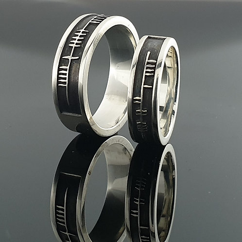 Ogham Wedding Ring - Personalised