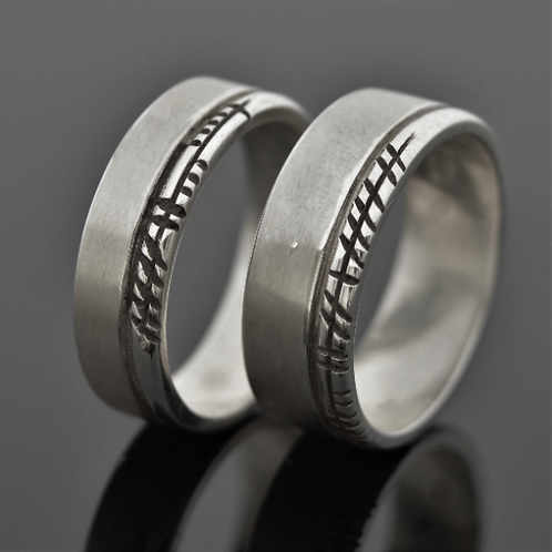 Ogham ring set