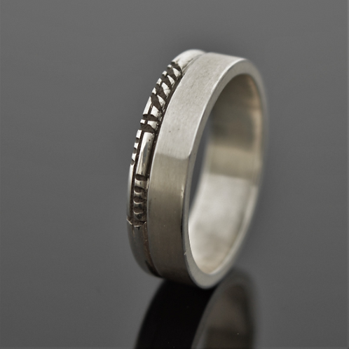 6mm personalised Ogham ring