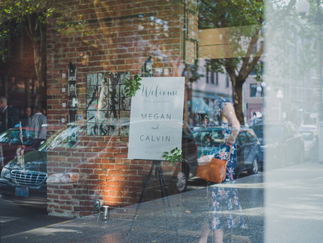 A playful Pioneer Square affair for Megan and Calvin