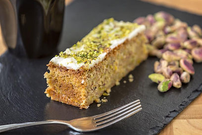 Pistachio and lemon gluten free cake