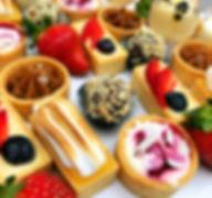 mini lemon meringue, salted caramel, chocolate truffle, raspberry cheesecake