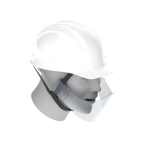 ヘルメット装着型マウスシールド