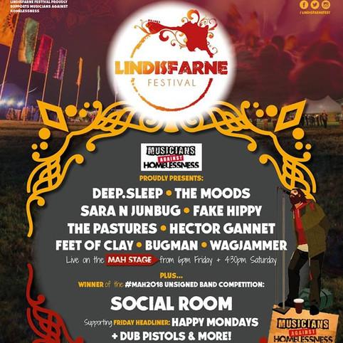 The Moods to Headline MAH stage @ Lindisfarne Festival