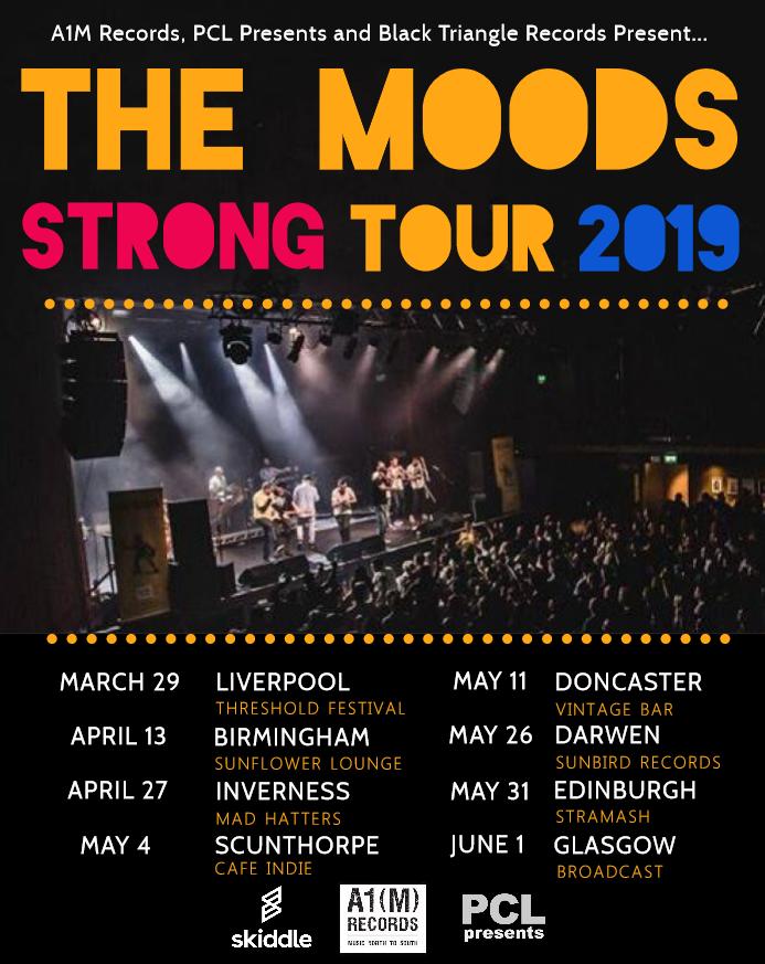 Tour 2019 Band Music UK album single Moods scotland