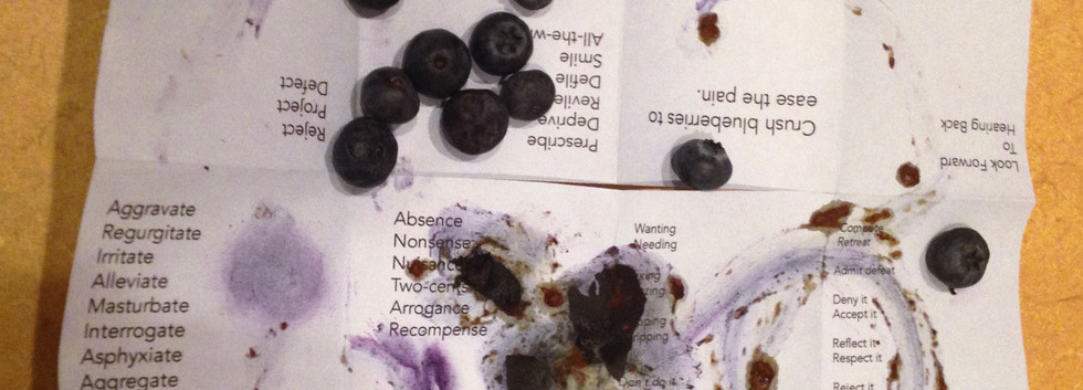 Crush blueberries to ease the pain.