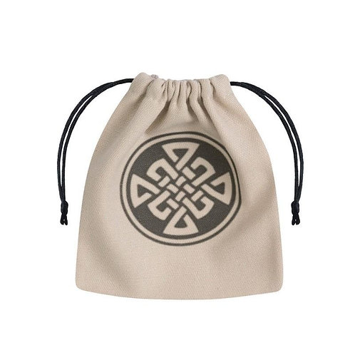 Celtic Dice Bag beige & black