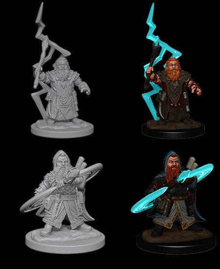 Pathfinder Deep Cuts Unpainted Miniatures - Dwarf Male Sorcerer