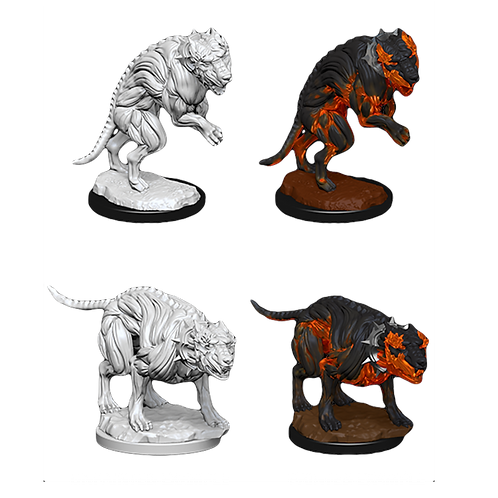 Pathfinder Deep Cuts Unpainted Miniatures - Hell Hounds