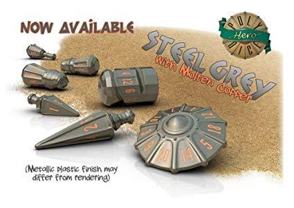 PolyHero Dice Warrior Set Steel Grey/Molten