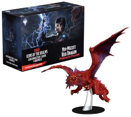 D&D Icons of the Realms Guildmasters' Guide to Ravnica Niv-Mizzet Red Dragon Fig