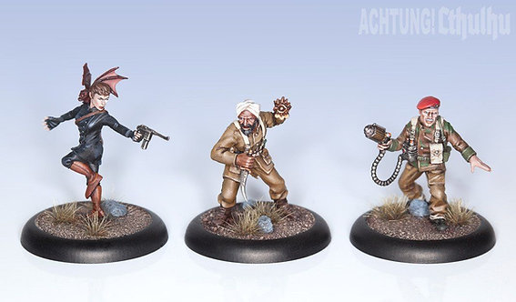 Achtung! Cthulhu Miniatures Allied Investigators Pack 2