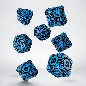 Blue & Black Tech Dice (7)