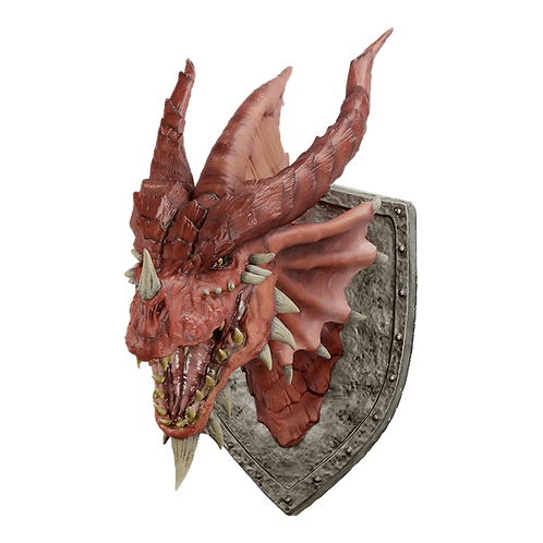 Dungeons & Dragons - Red Dragon Trophy Replica 75x60x45cm