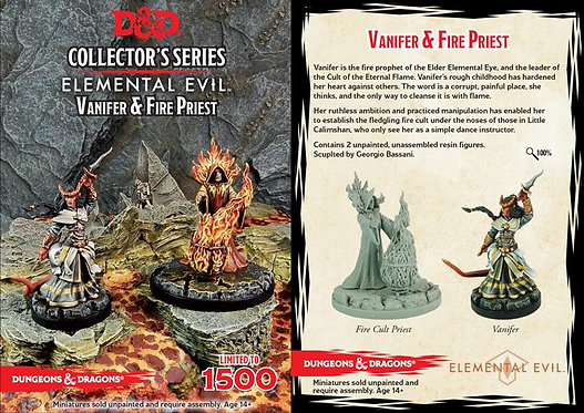 D&D Collectors Series Temple of Elemental Evil Vanifer & Fire Priest