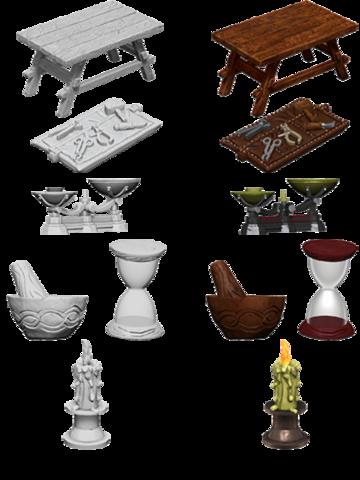 WizKids Deep Cuts Unpainted Miniatures - Workbench & Tools