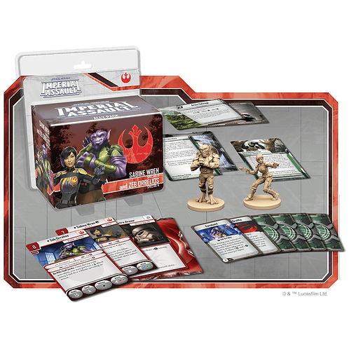Star Wars Imperial Assault: Ally Pack - Sabine Wren and Zeb Orrelios (Exp)