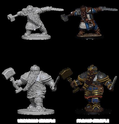 D&D Nolzur's Marvelous Unpainted Miniatures - Dwarf Male Fighter