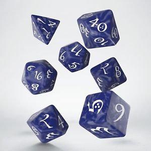 Classic RPG Cobalt & White Dice Set(7)