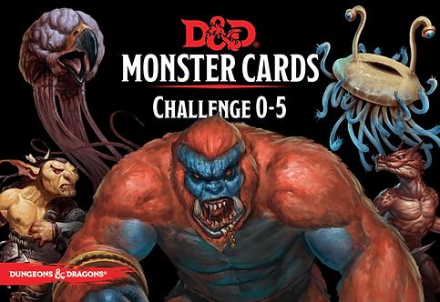 D&D Monster Card Deck: Levels 0-5