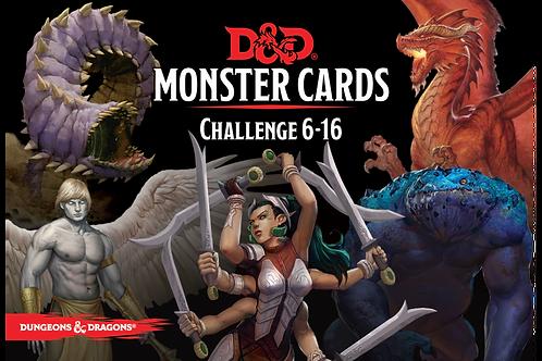 D&D Monster Card Deck: Levels 6-16