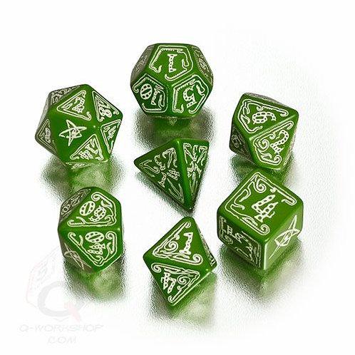 Call of Cthulhu Green & Glow in the Dark Dice Set (7)