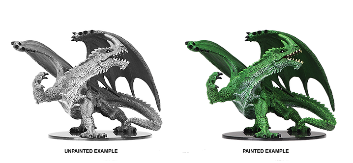 Pathfinder Deep Cuts Unpainted Miniatures: Gargantuan Green Dragon