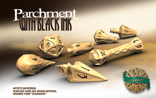 PolyHero Dice Wizard Set Parchment & Black Ink